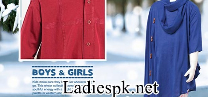 junaid jamshed Kids Winter Collection 2014 2015 Prices Girls