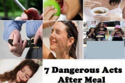 7 Dangerous Acts After a Meal