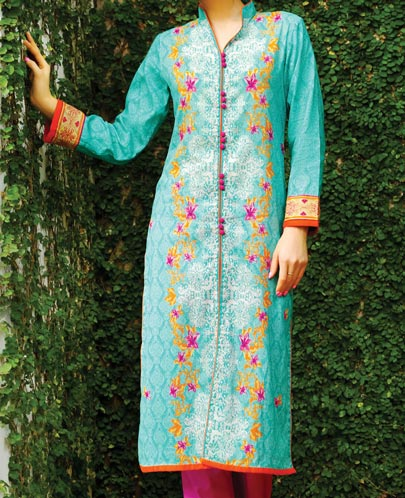 Al Karam Summer Lawn Collection Vol 1 Prices for Women Girls Kurta 1275
