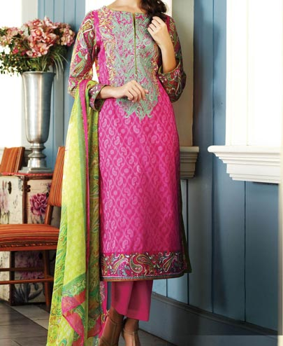 Al Karam Summer Lawn Collection Vol 1 Prices for Women Girls Pink Shalwar Kameez 4950