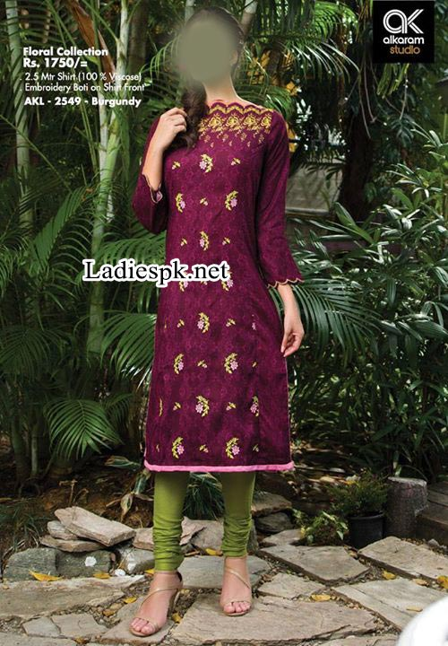 AlKaram-Fall-Winter-Dresses-Designs-Collection-2014-2015-Vol-2-Price-for-Women-Girls-Long-shirt-Choori-Pajama