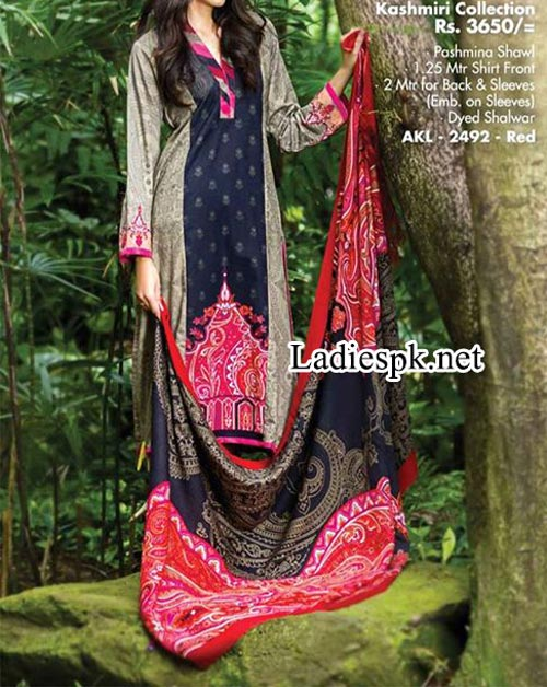 Alkaram Winter Dresses 2014 Volume 1 For Women girls Shalwar Kameez Design 2015 Fashion Trends