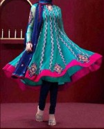 Anarkali Frocks Designs For Summer 2013 150x187 Indian Anarkali Frock Designs 2013 with Pajama for Girls