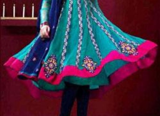 Umbrella Anarkali Frocks with Churidar 2013 Style India