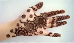 Arabian Latest Arabic Mehndi Designs 2013 150x88 Fancy Hand Mehndi Designs For Women