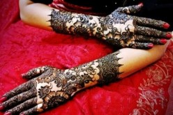 Indian Henna Hand Mehndi design For Eid