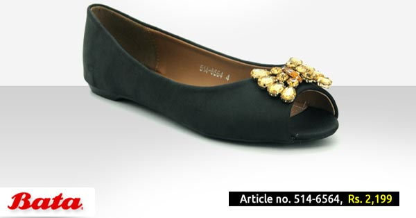 Bata Shoes Pakistan Fall Winter Collection 2014 2015 with Prices for Girls and Women Fashion Formal Black