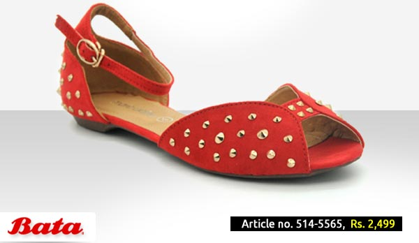 Bata Shoes Pakistan Fall Winter Collection 2014 2015 with Prices for Girls and Women Fashion Formal Red Khussa Design