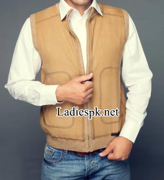 Bonanza-Pakistan-Jackets-Winter-Collection-2014-2015-with-Prices-for-men,-gents-boys-Sleeveless-Zipper-4580