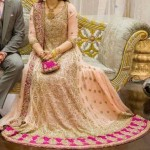 Bridal Dress Frock Open Shirt Tail Gown with Lehenga 2014 2015 Design Facebook in Pakistan India Bangladesh