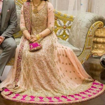 Bridal Dress Frock Open Shirt Tail Gown with Lehenga 2014 2015