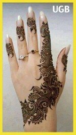 Chand Raat eid special mehndi designs 2013 Hand for Girls1 150x267 New Eid Chand Raat Special Mehndi Designs 2013 Hand for Girls