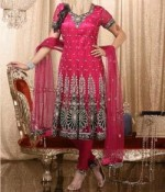 Churidar pajama bridal anarkali frock designs 150x175 Long Umbrella Frock Style for Girls 2013   Junaid Jamshed