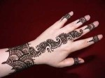 Cute Party Hinna Mehndi Designs Trend 2013 150x112 Fancy Hand Mehndi Designs For Women