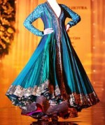 Fancy Anarkali Umbrella Frocks Designs  150x179 Long Umbrella Frock Style for Girls 2013   Junaid Jamshed