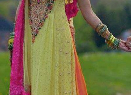 Indian Fancy Frock Designs for Mehndi