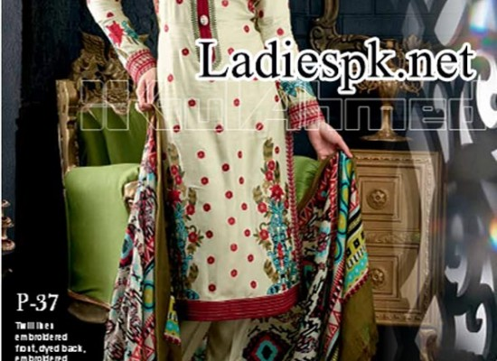 Gul Ahmed Fall Winter Collection 2014 2015 Catalog for Women