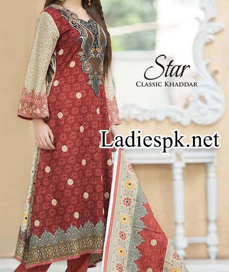 Fashion of Shalwar Kameez Naveed Nawaz Textile Star Classic Khaddar Collection 2014 2015