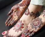 Foot Hand Mehndi Designs Collections 2013 150x124 Simple Bridal Foot Mehndi Designs