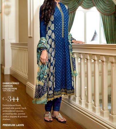 Gul Ahmed Festive Eid  Collection 2015 Catalog and Magazines