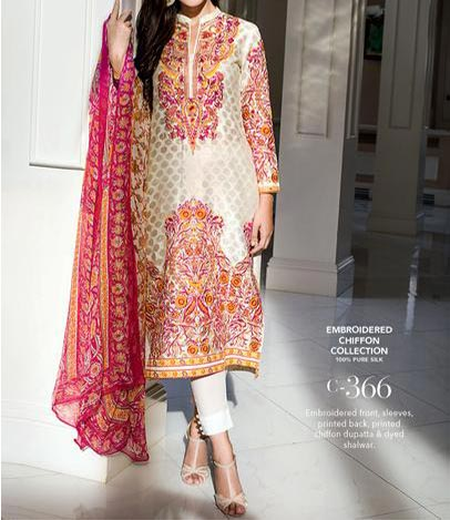 Gul Ahmed Festive Eid Designs Collection 2015 Catalog and Magazines