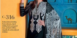 Gul Ahmed Festive Eid Dresses Black Collection 2015 Catalog and Magazines