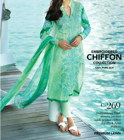 Gul Ahmed Festive Eid Dresses Designs Collection 2015 Catalog and Magazines