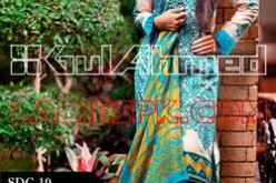 Gul Ahmed Lawn Shalwar Kameez Designs for Women 2013