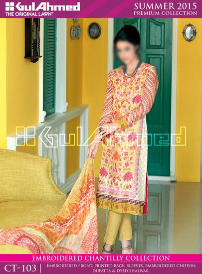 Gul Ahmed Summer Lawn Collection 2015 Prices Shalwar Kameez