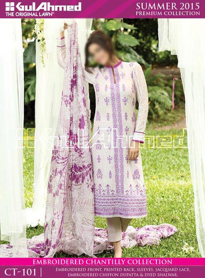 Gul Ahmed Summer Lawn Collection 2015 Prices Women and Girls