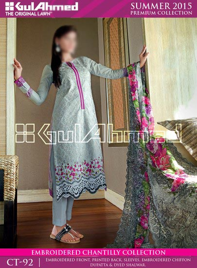 Gul Ahmed Summer Lawn Collection 2015 Prices