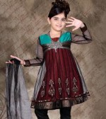 Kids Wear Churidar Anarkali Dresses 150x168 Kids Frock Designs for Girls