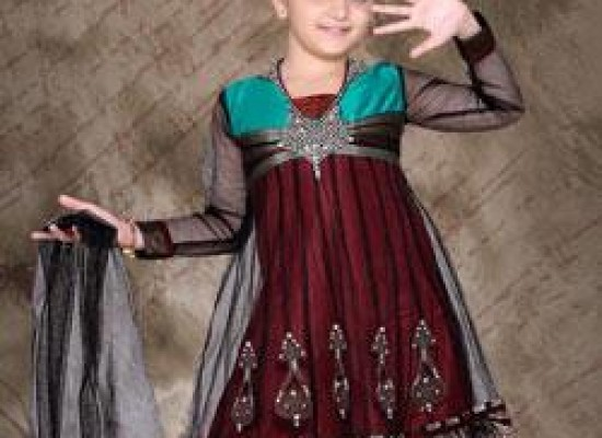 Anarkali Frock for Kids Girls with Churidar Pajama 2013