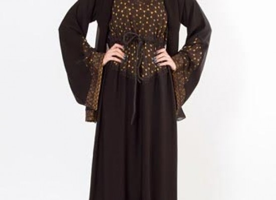 Simple & Fancy Abaya Designs 2014 in Pakistan Dubai UAE