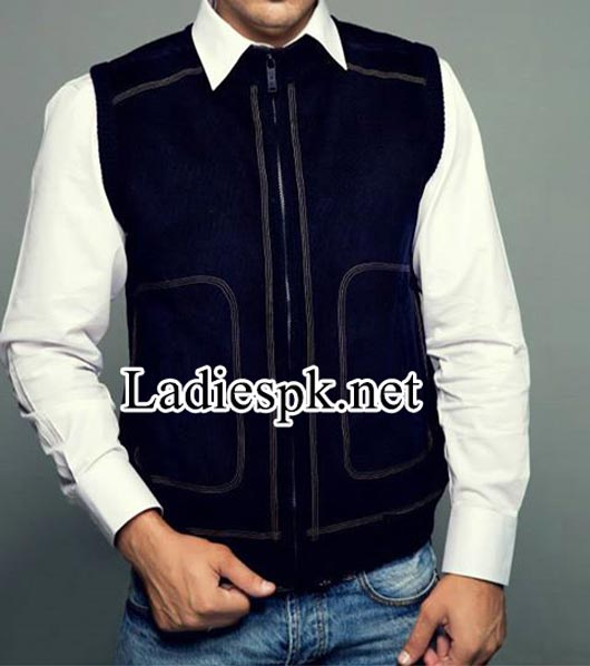 Latest-Bonanza-Pakistan-Jackets-Winter-Collection-2014-2015-with-Prices-for-Men,-gents-boys-Sleeveless-Zipper-4580