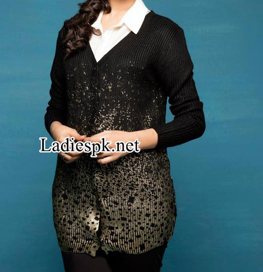 Latest-Fashion-Bonanza-Pakistan-Black-Sweaters-and-Jerseys-Designs-Winter-Collection-2014-2015-with-Prices-for-Women-and-Girls-Rs