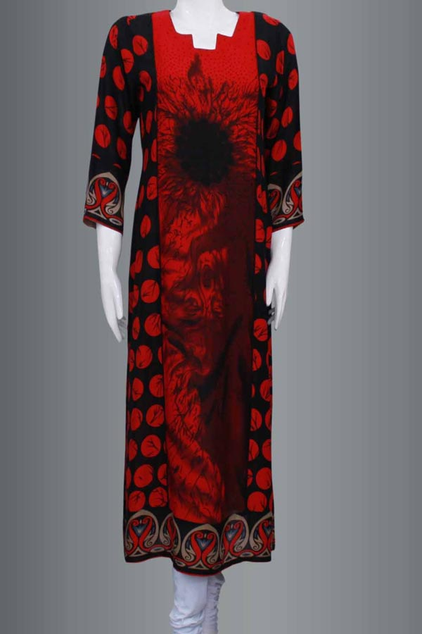Latest-Fashion-Trend-of-Long-Women-Kameez-Kurta-Designs-2015-Girls-Kurti-Gala-Neck-Collection-2014-in-Pakistan-and-India