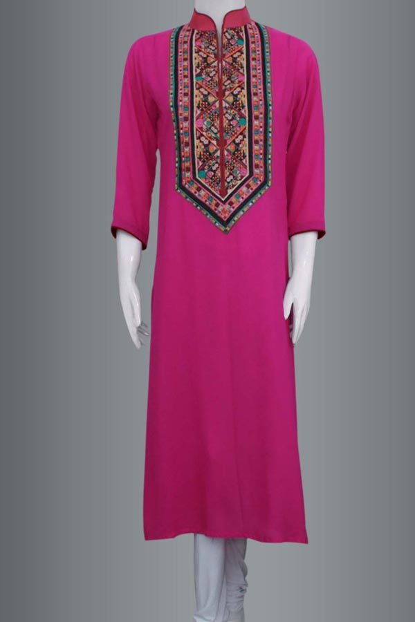 Latest-Fashion-Trend-of-Long-Women-Kurta-Designs-2015-Girls-Kurti-Collection-2014-in-Pakistan-and-India-Kameez