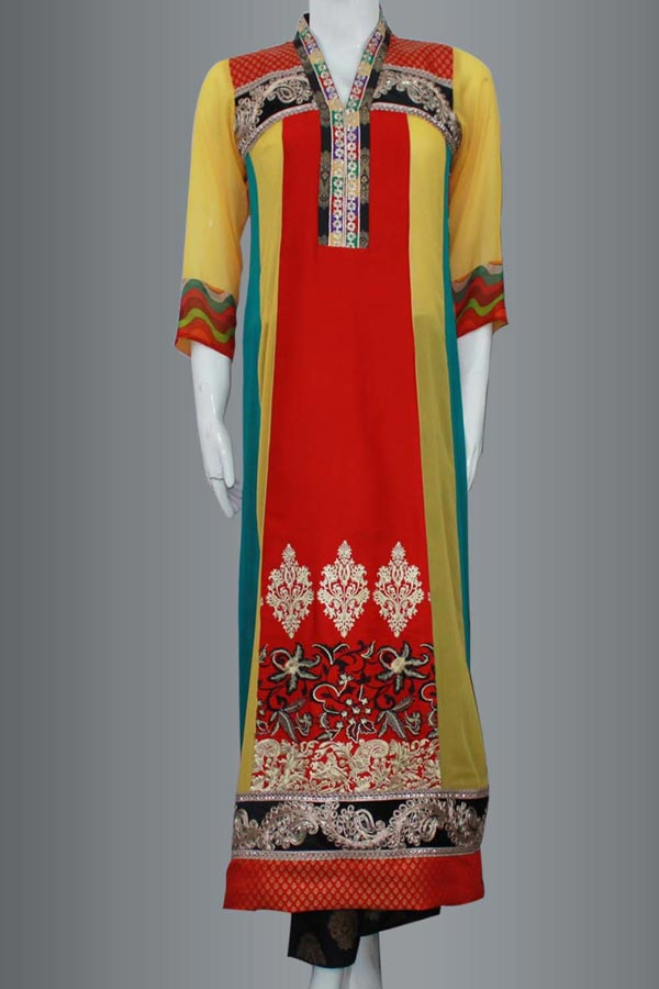 Latest-Fashion-Trend-of-Long-Women-Kurta-Designs-2015-Girls-Kurti-Collection-2014-in-Pakistan-and-India