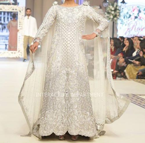 Latest Fashion Trends Dresses Maria B Bridal Couture, Fashion Week 2014 2015 Collection Walima