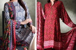 New Shalwar Kameez Designs 2015 by Khaadi Linen Collection
