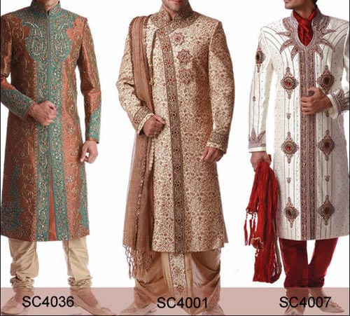 Latest Stylish  and Fancy Sherwani Designs 2015 for Grooms, Men in Pakistan India 2014 facebook