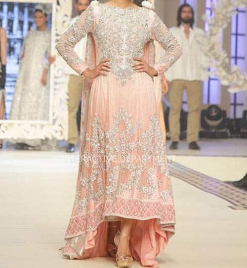 Latest Tail Gown Fashion Trends Dresses Maria B Bridal Couture, Fashion Week 2014 2015 Walima Collection