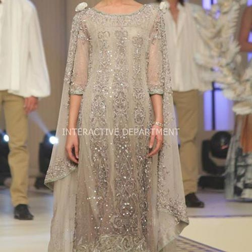 Latest Walima Fashion Trends Dresses Maria B Bridal Couture, Fashion Week 2014 2015 Collection
