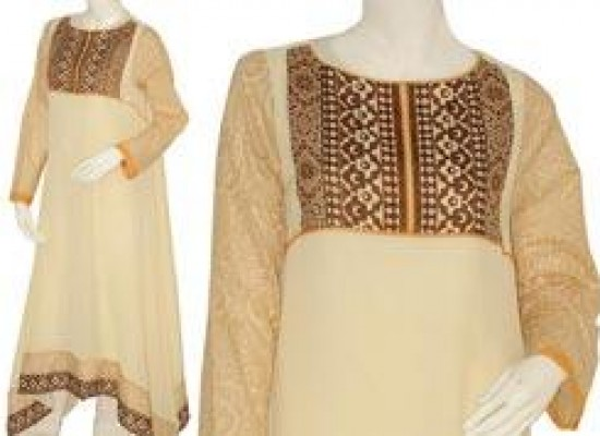 New Frock Style For Girls 2013 Junaid Jamshed Designs