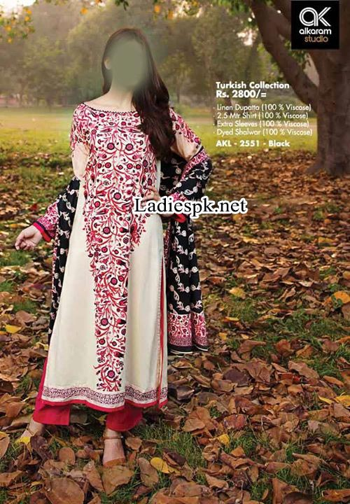 Long-Salwar-Kameez--Fashion-Facebook-AlKaram-Fall-Winter-Dresses-Designs-Collection-2014-2015-Vol-2-Price-for-Women-Girls