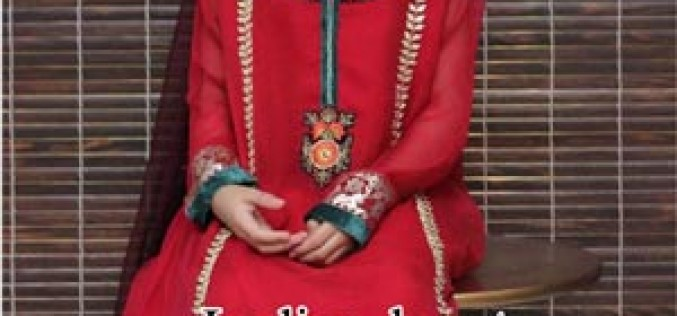 Maria B Kids Eid Dress Designs Collection 2014 Price for Girls