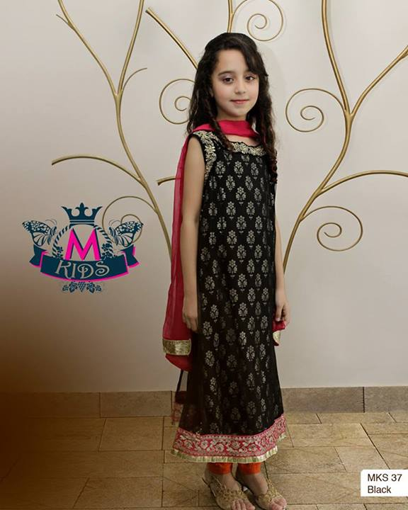 Maria B Kids Party and Wedding Dresses Design Collection 2014 2015 for Girls Facebook
