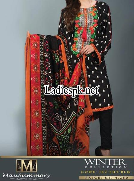Mausummery-Pakistan-Winter-Dresses-Collection-2014-2015-Prices-Shawl-Shalwar-Kameez-Fashion