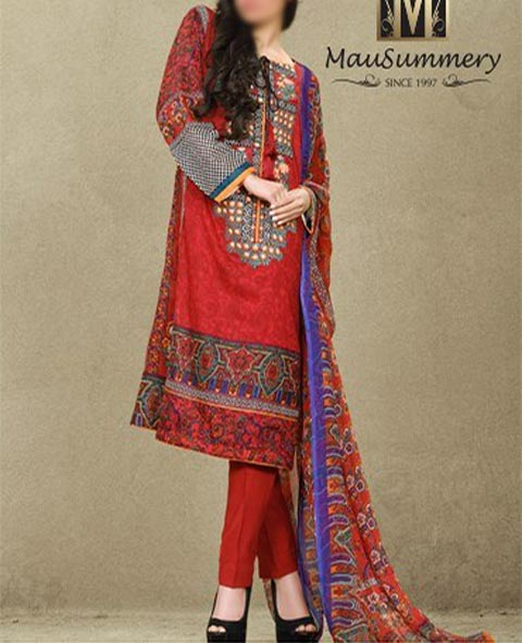 Mausummery Summer Lawn Prints Designs Collection 2015 Price Kurta